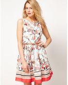 Oasis Oasis Dress with Scenic Print - Lyst