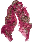 Alexander McQueen Paisley Print Modal and Cashmereblend Scarf - Lyst