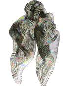 Matthew Williamson Peacock Printed Silkchiffon Scarf - Lyst