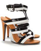Bottega Veneta Strappy Patent Sandals - Lyst