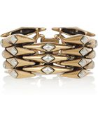 Oscar de la Renta 24karat Goldplated Link Bracelet - Lyst