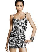 H&M Zebra Dress - Lyst