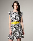 Alice + Olivia Matilda Elastic-waist Zebra Dress - Lyst