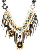Asos Asos Premium Spider Jewel Spike Necklace - Lyst