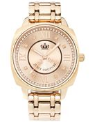 Juicy Couture Women'S Beau Rose Gold Plated Stainless Steel Bracelet 1900807 - Lyst