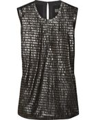 Reed Krakoff Pailletteembellished Tulle and Woolblend Top - Lyst