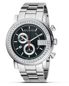 Gucci G Chrono Collection Stainless Steel and Blackdiamond Dial 44 Mm - Lyst