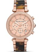 Michael Kors Women'S Round Ladies Rose Gold Tone Watch, 39Mm - Lyst