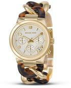 Michael Kors Michael Stainless Steel and Tortoise Link Bracelet Watch 38 Mm - Lyst