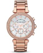 Michael Kors Women'S Mother Of Pearl Embellished Watch, 39Mm - Lyst