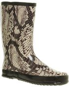 Office Marshmallow Welly Snake Print Rub - Lyst