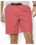 Ralph Lauren Tyler Pleated Tissue Chino Shorts - Lyst