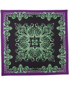 Versace Foulard Square Scarf Neon Green - Lyst