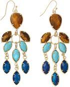 Kendra Scott Multistone Chandelier Earrings Parasol - Lyst
