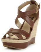 G by Guess Lasino Wedge Sandals - Lyst