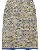 M Missoni Pleated Crochet Knit Cotton Blend Skirt - Lyst