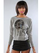 Obey The Radio Obey Raglan - Lyst