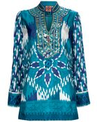 Tory Burch Night Sky Kaftan Top - Lyst