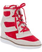 Jeffrey Campbell Hitop Wedge Sneaker - Lyst