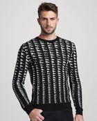 Versace Jacquard print Sweater - Lyst