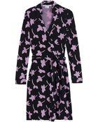 Diane von Furstenberg New Jeanne Printed Wrap Dress - Lyst