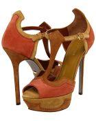 Sergio Rossi Brown High Heel Sandals - Lyst