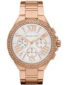 Michael Kors Chronograph Bella Rose Gold Tone Stainless Steel Bracelet 43mm - Lyst