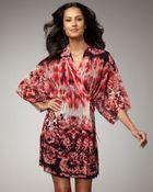 Jean Paul Gaultier Floral Print Kimono Coverup - Lyst