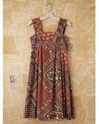 Free People Vintage Batik Printed Dress - Lyst