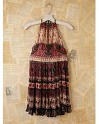 Free People Vintage Batik Printed Halter Dress - Lyst
