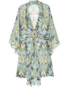 Matthew Williamson Embellished Silk chiffon Kaftan - Lyst