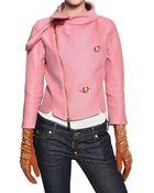 DSquared² Jewelled Wool Silk Organza Jacket - Lyst