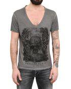 Philipp Plein Swarovski On Raw Cut Dyed Jersey Tshirt - Lyst
