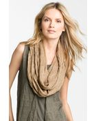 Eileen Fisher Washed Linen Infinity Scarf - Lyst