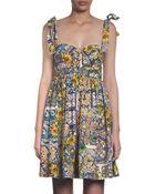 Dolce & Gabbana Daisy Print Dress - Lyst