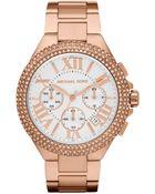 Michael Kors Bella Rose Golden Glitz Watch - Lyst