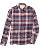 Rag & Bone Plaid Cotton Blend Shirt - Lyst