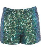 Topshop Mermaid Sequin Shorts - Lyst