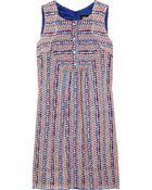 Anna Sui Printed Silk Dress - Lyst