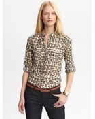 Banana Republic Heritage Leopard Military Shirt - Lyst