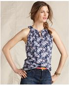 Tommy Hilfiger Somers Sleeveless Printed Tank Top - Lyst