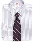 Brooks Brothers Supima Cotton Noniron Regular Fit Pencil Stripe Dress Shirt - Lyst