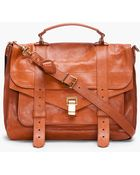 Proenza Schouler Ps1 Large Brown Satchel - Lyst