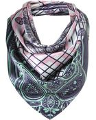 Topshop Between The Lines Scarf By Beta - Lyst
