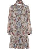 Dolce & Gabbana Floral print Silk georgette Dress - Lyst