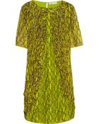 Matthew Williamson Embellished Printed Silk-Chiffon Dress - Lyst
