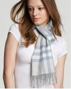Burberry Burberry Giant Check Cashmere Scarf - Lyst
