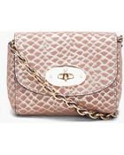 Mulberry Mini Suede Snake Print Lily Bag - Lyst