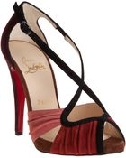 Christian Louboutin Victoria Suede Red Sole Pump - Lyst