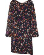 Vanessa Bruno Printed Silk Chiffon Dress - Lyst